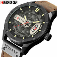 CURREN Watch Men's Quartz Watches Leather Wristwatches Casual Sports Business