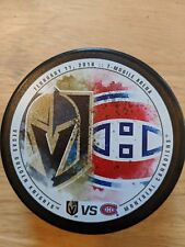 VEGAS GOLDEN KNIGHTS vs MONTREAL CANADIENS Limited Matchup Puck  02/17/18