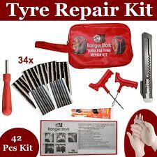 Emergency Car Van Motorcycle Tubeless Tyre Puncture Repair Kit 42 Pieces