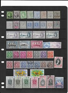 3 scans-Collection of mixed MINT & good used St Lucia stamps.