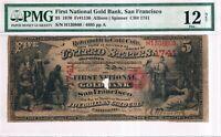 $5 1870 First National Gold Bank, San Francisco, FR#1136, CH#1741, PMG 12
