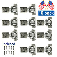 """10-Pack Soft-Closing Compact 1/2""""Overlay 105° Hinge Kitchen Cabinet Hardware USA"""
