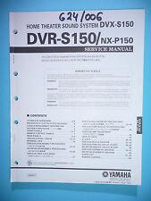 Service Manual-Anleitung für Yamaha DVR-S150,ORIGINAL