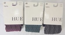 HUE WOMEN CABLE RIB  WITH CONTROL TOP MADE IN USA SOFT NYLON TIGHTS W13671
