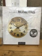 Karlsson Station Wall Clock Numbers Silver Unique Art Modern Home Timepiece