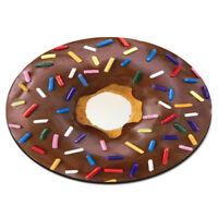DOUGHNUT SPRINKLES CHOCOLATE CIRCULAR PC COMPUTER MOUSE MAT PAD - Funny Donut