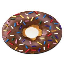 Dona chispas de chocolate circular Pc Computadora Mouse Mat Pad-Gracioso Donut