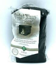 """MidWest Crate Cover Quiet Time Large 42"""" x 28"""" Black"""