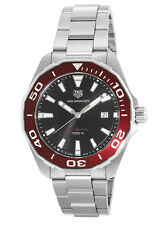 New Tag Heuer Aquaracer Red Bezel Men's Watch WAY101B.BA0746