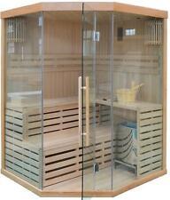 Deluxe Ofen Sauna WHASKY-XL Ofensauna Massivholzsauna Saunaanlage