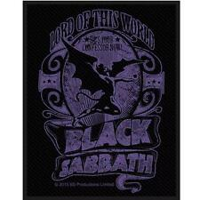 OFFICIAL LICENSED - BLACK SABBATH - LORD OF THIS WORLD SEW ON PATCH METAL OZZY