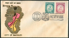 1959 Philippines HONORING CITY OF BACOLOD First Day Cover – C