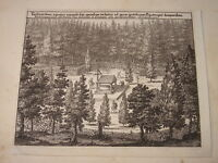 Willem SWIDDE (1660-1697) Gravure XVII SCENE Västergötland SUEDE SVERIGE 1693