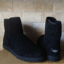 UGG CORY CLASSIC SLIM BLACK SUEDE SHEEPSKIN ANKLE BOOTS SIZE US 12 WOMENS
