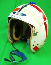 Vintage US Navy USN Military Flight Pilot Helmet