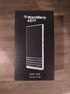 *USA Model, Grade-A Excellent* BlackBerry KEY2 Smartphone BBF100-2 Silver / 64GB