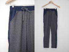 Maude Color Block Blue and Gray Drawstring Race Stripe Pants S