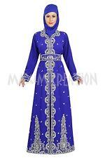 ROYAL BLUE GEORGETTE ARABIAN FANCY DESIGN BY MAXIM CREATION JILBAB DRESS 5719