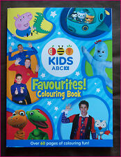 ABC KIDS FAVOURITES 64pg COLOURING IN Colour-in BOOK NEW BLUE - Octonauts Peppa