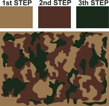 #S CAMOUFLAGE Camo Pattern Airbrush Stencil Vehicle Bike Army Tank Arm Weapons
