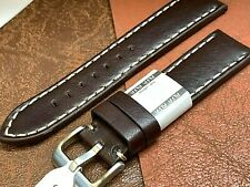 EURO ALFA BROWN PREMIUM GENUINE LEATHER WATCH BAND FIT HAMILTON