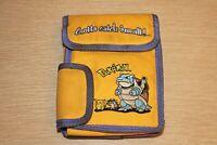 POKEMON Blastoise Pikachu Meowth Nintendo Gameboy Carrying Case Bag Vintage READ