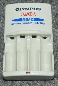 ORIGINAL OLYMPUS BU-300 NiMH AA LR6 Mignon battery charger FULL WORK