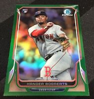 2014 BOWMAN CHROME XANDER BOGAERTS GREEN REFRACTOR MINI 08/15 RED SOX ROOKIE RC