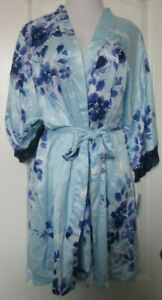 Apt 9 Intimates Blue floral print Robe Size XX-Large with sash and loop