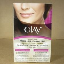 Olay Smooth Finish Facial Hair Removal Duo Medium to Coarse Balm Cream