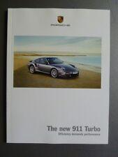 "2009 / 2010 Porsche ""new"" 911 Turbo Showroom Advertising Sales Brochure RARE!!"