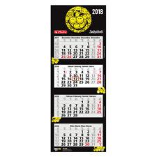 Herlitz 4-Monatskalender Smiley 2018 , Viermonatskalender 33 x 90 cm schwarz