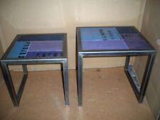 "2 Set of Side Tables "" blaumix "" Hardwood + and Metal Frame Gutmann FACTORY"