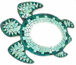 Turtle Or Starfish Mosaic Mirror. Mint Green/Teal Or Blue Small/Large. Handmade