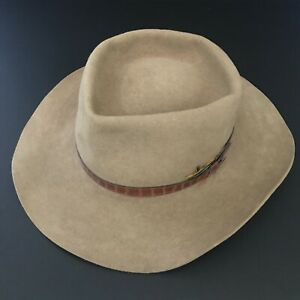 AKUBRA - Down Under - Taupe - Size 59 - Made In Australia