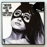 Ariana Grande canvas quote wall decals photo painting pop art poster