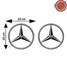 Kit 2 Adesivi Mercedes AMG Classe A C Cla GT Auto Logo Vinile Decalco Stickers