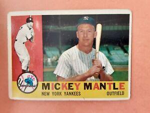 1960 Topps Baseball Set Break: #350 Mickey Mantle (Yankees)