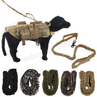TACTICAL POLICE K9 DOG TRAINING LEASH ELASTIC BUNGEE A CANINE