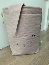 New Fabelab Large Bunny Storage Bag Mauve Rose Kids Scandinavian laundry 60x40cm