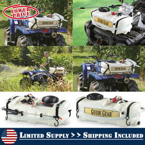 10 Gallon ATV Sprayer 12V Chemicals For Spot Weeds Fruit Trees Tank Pump 40 PSI