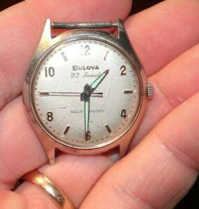 1963 Vintage M3 Bulova Self Winding 23j Wrist Watch Runs