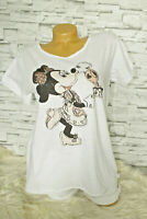 Italy New Collection T-Shirt weiß Mickey Mouse Gr. 36 38 40 42 blogger Strass