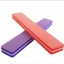 2X Top Double Sided Manicure Tool Sponge Nail Art Sanding File Buffer Buffing DS