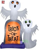 HALLOWEEN 7 FT TRICK OR TREAT TOMBSTONE GHOSTS GEMMY  Airblown Inflatable