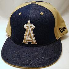 LOS ANGELES ANGELS hat cap FITTED 7 3/4 new era tan denim adult MLB anaheim LA