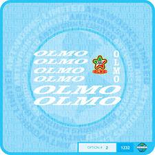 OLMO Decalcomanie Bicicletta-Trasferimenti-Adesivi-Set 2-Bianco