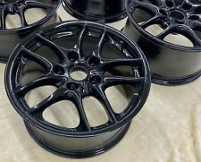 """Oem Refurbished Staggered 17"""" Porsche 986 Boxster Alloy Wheels Gloss Black"""