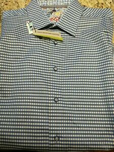 Mens Robert Graham button up dress shirt classic fit long sleeve XL