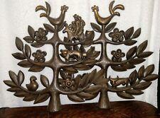2 Vintage Plastic Mid Century Homco Tree of Life Wall Plaques